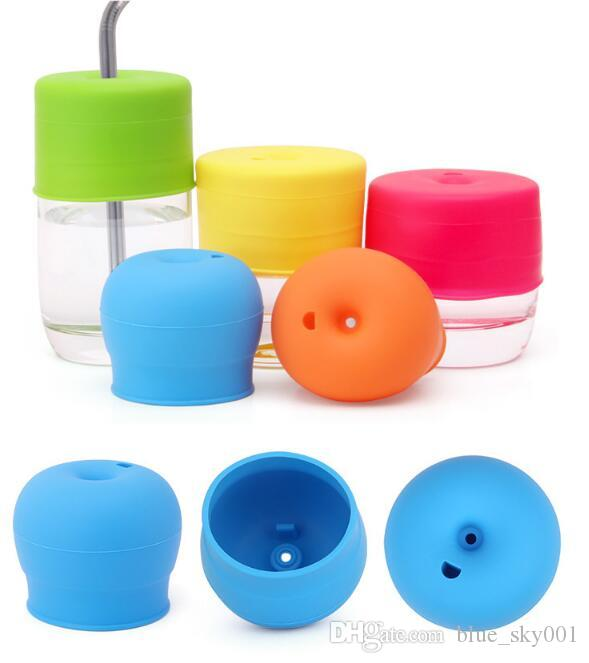 Silica gel leakproof mouth Cover prevent spillovers lids Learn to drink a cup of soft mouth and drink a cup of water