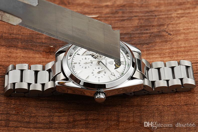 الرجال الساعات الميكانيكية أزياء للماء عالية الجودة الساعات الميكانيكية الصغيرة الجمل الطلب حذافة الرجال ووتش