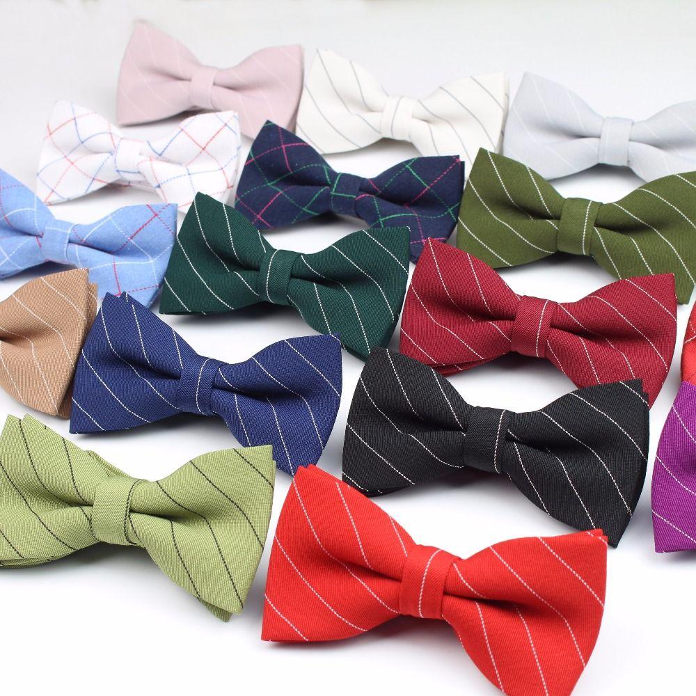 102abf6c3944 Fashion Bowtie Classic Men's Plaid Bow Tie Formal Wear Business Suit ...