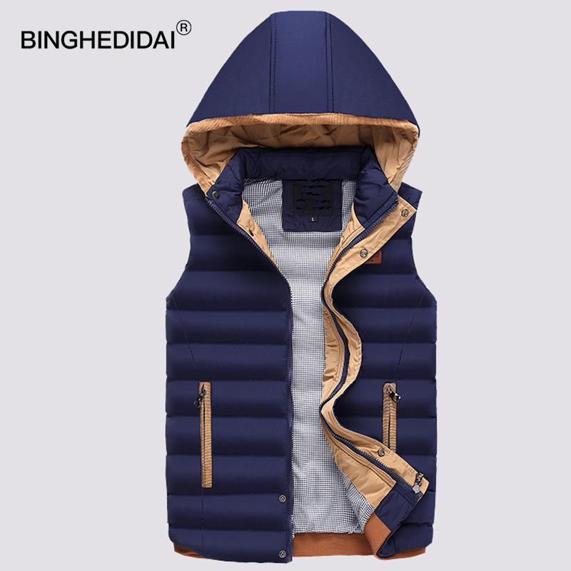 4d361a7f35f Mens Waistcoat Hooded Jacket Puffer Cotton Vest Coat Warm Quilted ...