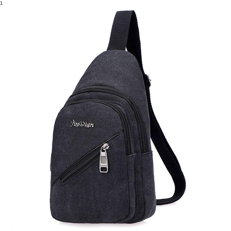 164f01fa7079 New Canvas Chest Bag Fashion Luxury Designer Men Sling Bags Black Chest Pack  Fashion Crossbody Bag Causal Shoulder Bags Men Chest Bag Fashion Cross Body  Bag ...