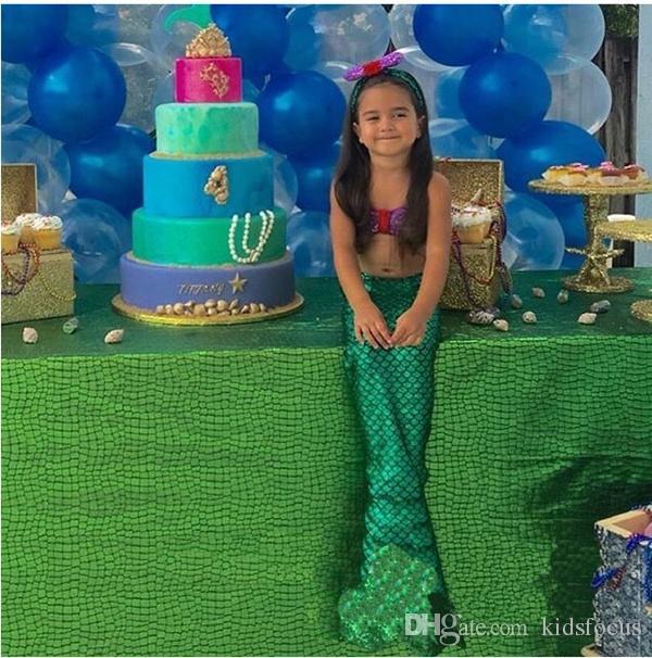 baby girls little mermaid set costume bikini swimwear swimsuit outfits dress bathing suit costume kids toddler swimming suits