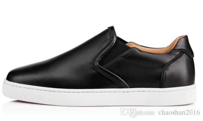 Novos Low men's preto branco genuíno couro Red Bottom Sapatos de Luxo Para Homens e Mulheres Partido Designer Tênis Famosa Marca tamanho EU36-47