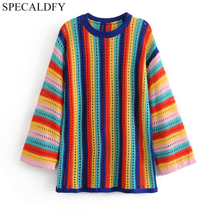92cb5a0a27ad 2019 2018 Autumn Crochet Sweaters Women Sweaters And Pullovers ...