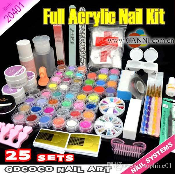 Wholesale New Hot Sale Professional Acrylic Nail Kit Diy Nail Art ...