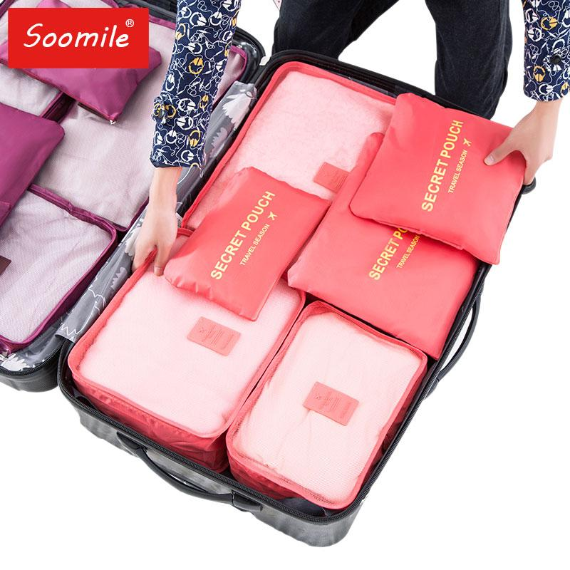 New travel bag suit high Quality Oxford cloth ms travel mesh bag in luggage Organizer packing cube Organiser for clothing