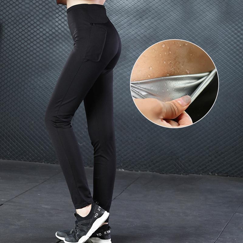 b46c7234c5a32 2019 Wholesale Hot Shapers Slimming Hot Sweat Shaper Women Skinny Pants  Thermo Neoprene Sweat Sauna Body Shapers Control Body Shapers From  Meinuo003