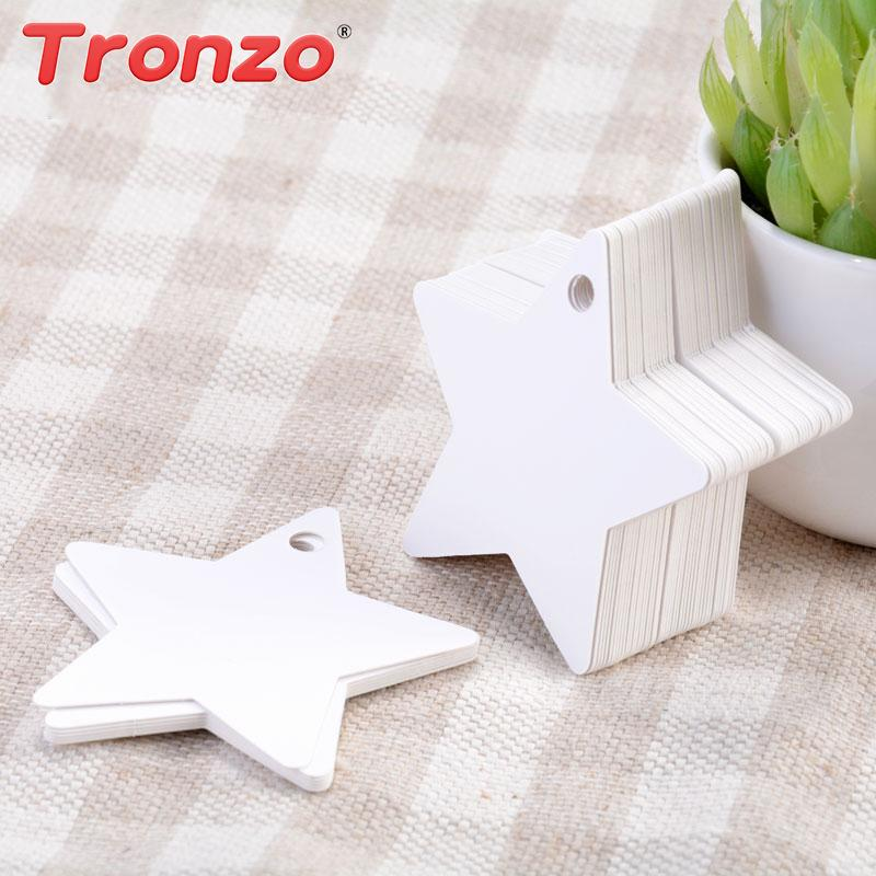 Tronzo DIY Gift Bag Tag Packaging Wedding Decoration Star Hang Candy Box Paper Tags Birthday Party Decorations Kids Favors Wrap From