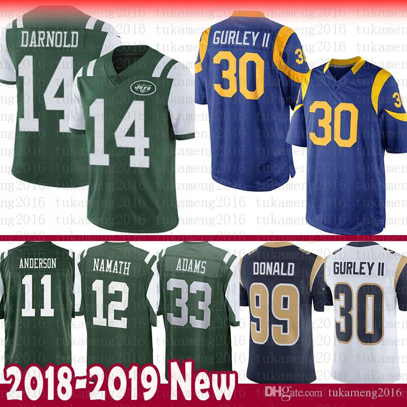 14 Sam Darnold 30 Todd Gurley St.louis Ram New York Jets Jersey 99 ... 5cc92d289