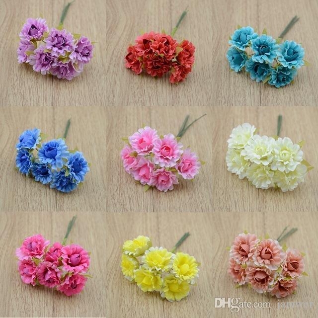 2019 Wholesale The Small Rose Flower Simulation Diy Silk Flowers