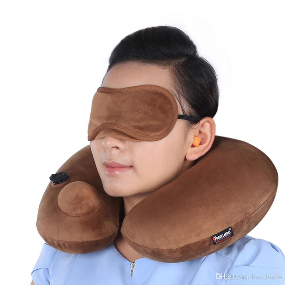 Automatic Inflatable U Shaped Pillow Travel Pillow Cushion Soft PVC ...