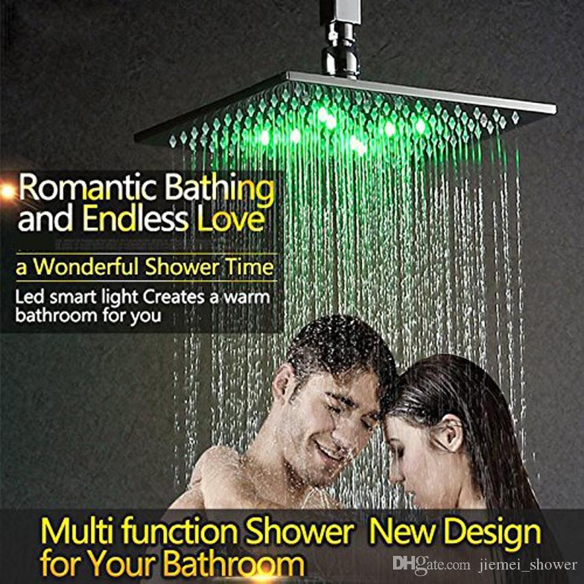 Termostatico Combo doccia con soffione a LED da 10