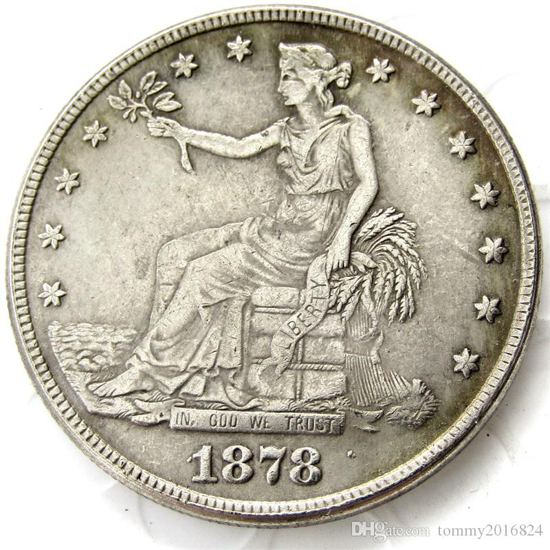 US Coins 1878cc Trade Dollar Copy Coins replica coins home decoration  accessories