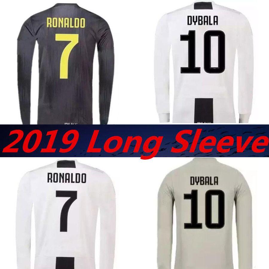 JUVENTUS 2019 RONALDO Camiseta De Manga Larga En Casa Tercer Jersey De Fútbol  2018 JUVE CR7 Dybala Costa Mandzukic Maillots De Footbal Camiseta Camisetas  ... 4b08f60416e6c