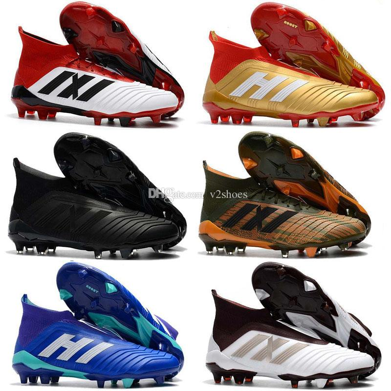 963074d35 Predator 18+ 18.1 FG Soccer Cleats Chaussures De Football Boots Mens High  Top Soccer Shoes Predator 18 Cheap New Hot