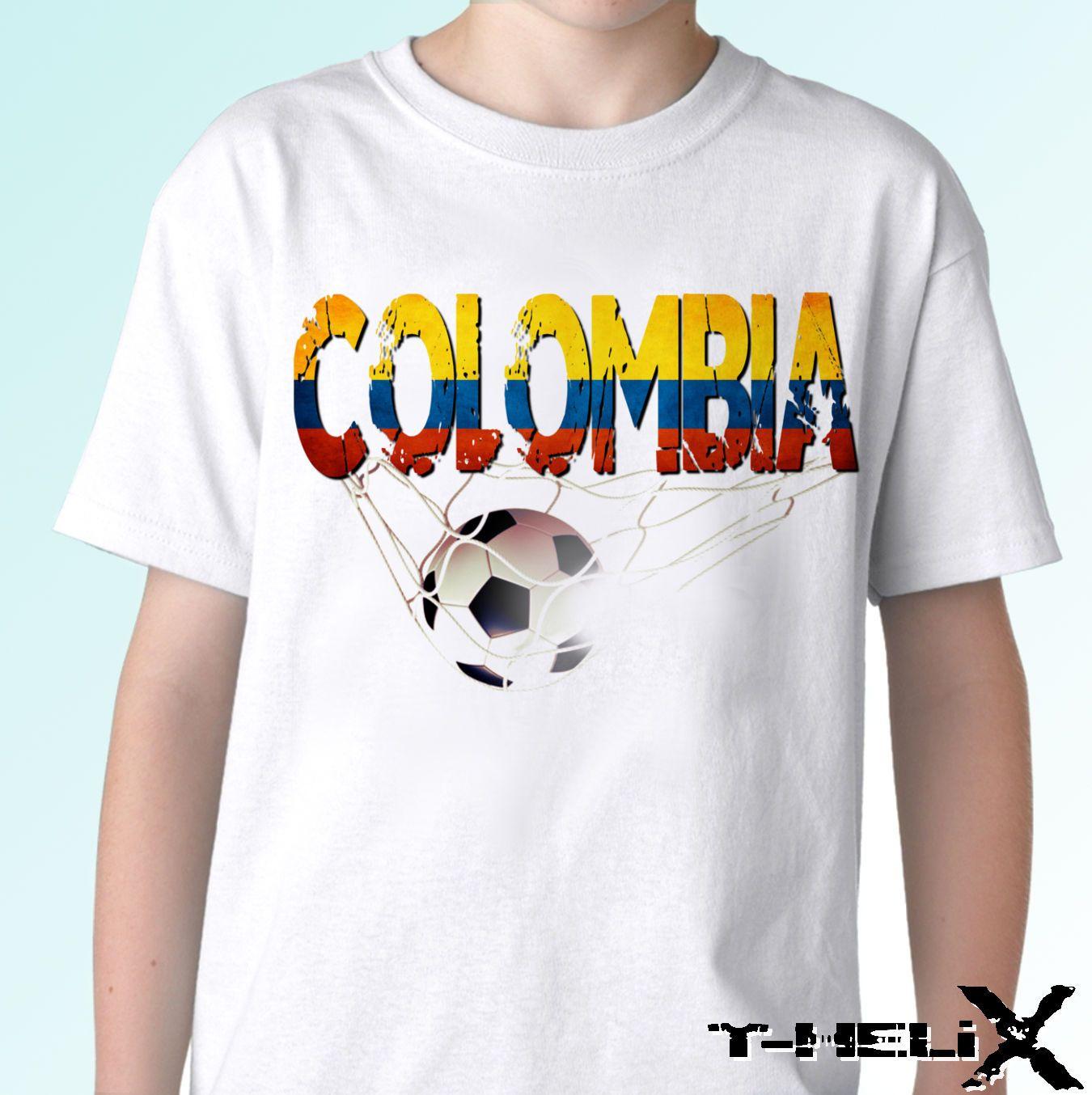 b7b1b4e6a68 Colombia Football Flag White T Shirt Top Soccer Design Mens Womens Cool  Casual Pride T Shirt Men Unisex New Fashion Tshirt Mens Tee Shirts Rude T  Shirts ...
