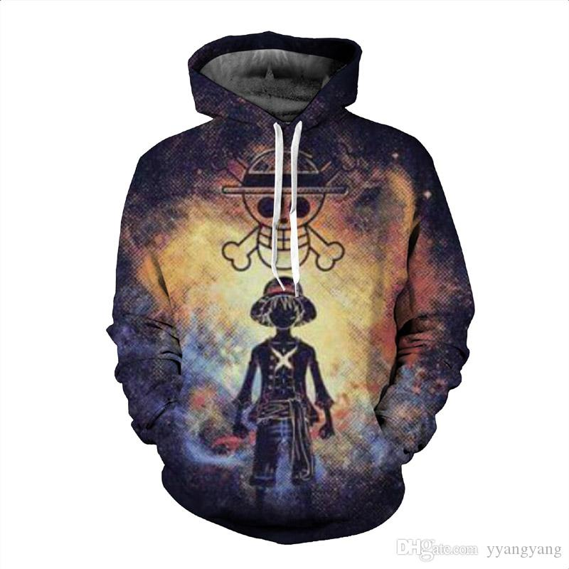 ac27909f9b 2019 Anime One Piece Hoodies 3D Print Pullovers Sportswear Sweatshirts Luffy  Ace Law Sabo Zoro Nami Nico Sanji Casual Tops Outfit From Yyangyang, ...