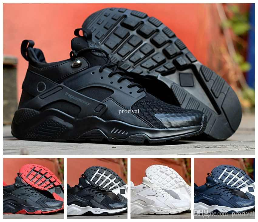 reputable site a268f 131a6 2018 Air Huarache 6 X Fragment Design MID Leather High Top Huaraches Ultra Running  Shoes Men Huraches Designers Sneakers Hurache Size 40 45 East Bay Shoes ...