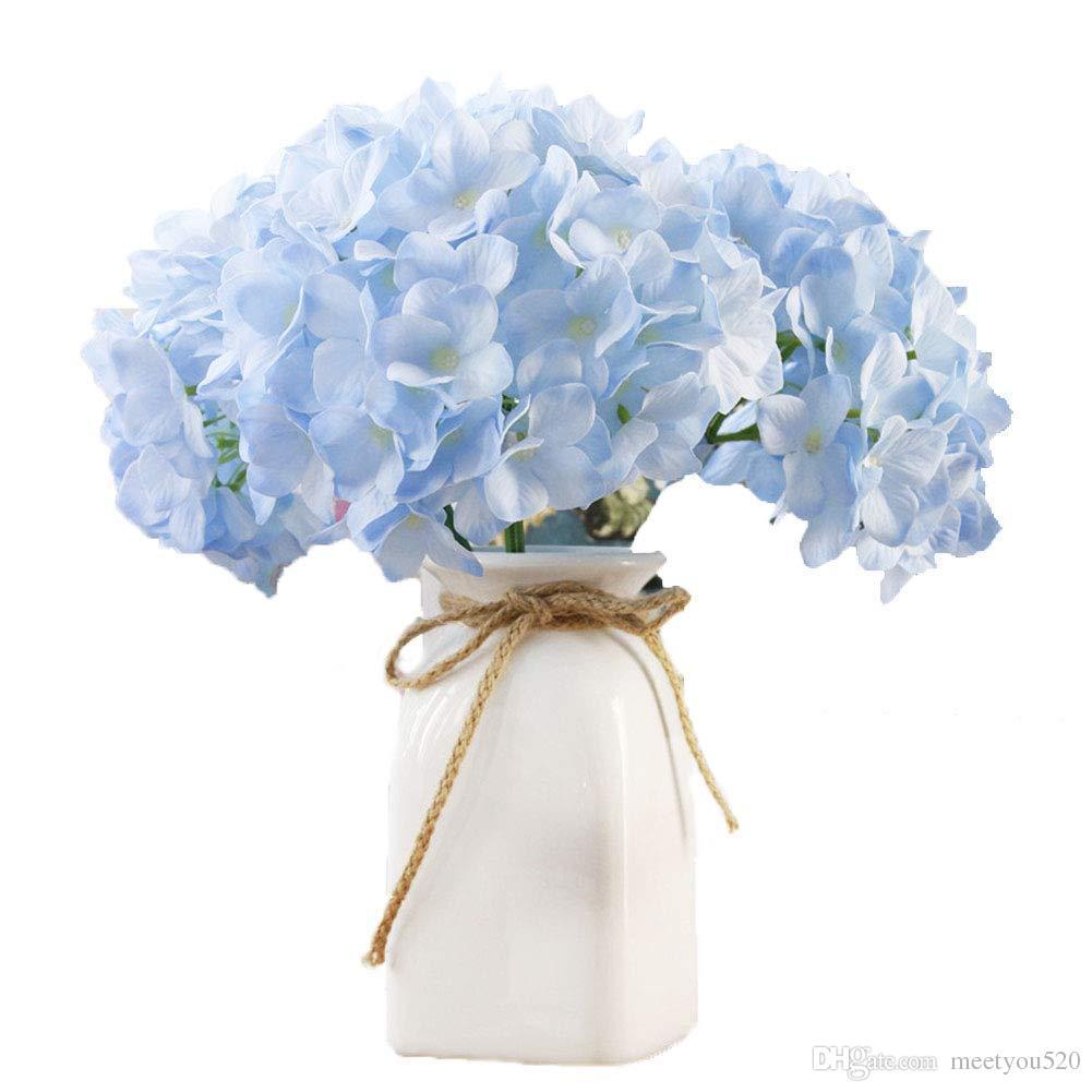 2018 Silk Artificial Hydrangea Flowers Fake Hydrangea Wedding Room