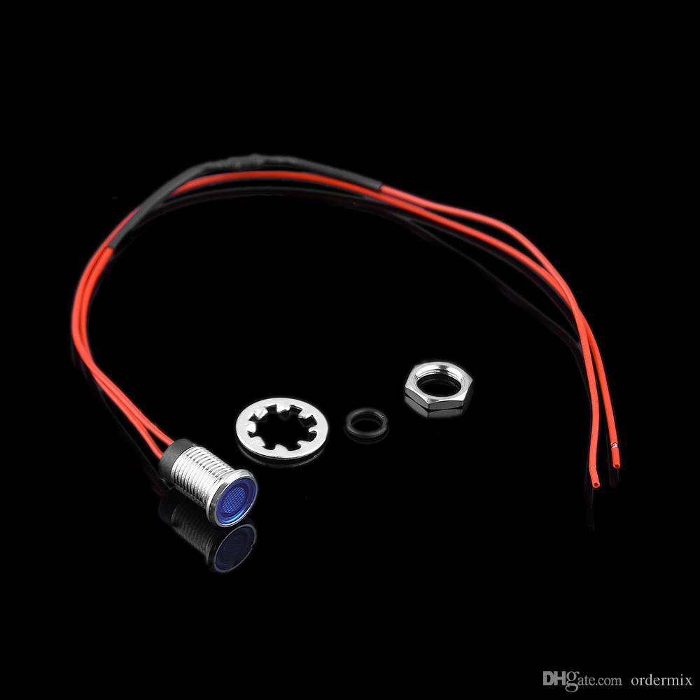 8mm 12V LED Panneau de bord de véhicule automobile Voyant indicateur d'instrument indicateur pilote