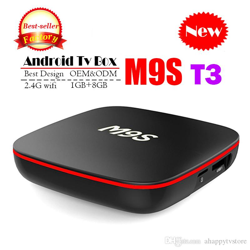 Android TV Box M9S T3 Allwinner H3 1GB 8GB Mejor Internet TV Box Android 7.1 mejor que H96 T95Z X96 TX3 TV Box Box 4K H.265 1080P