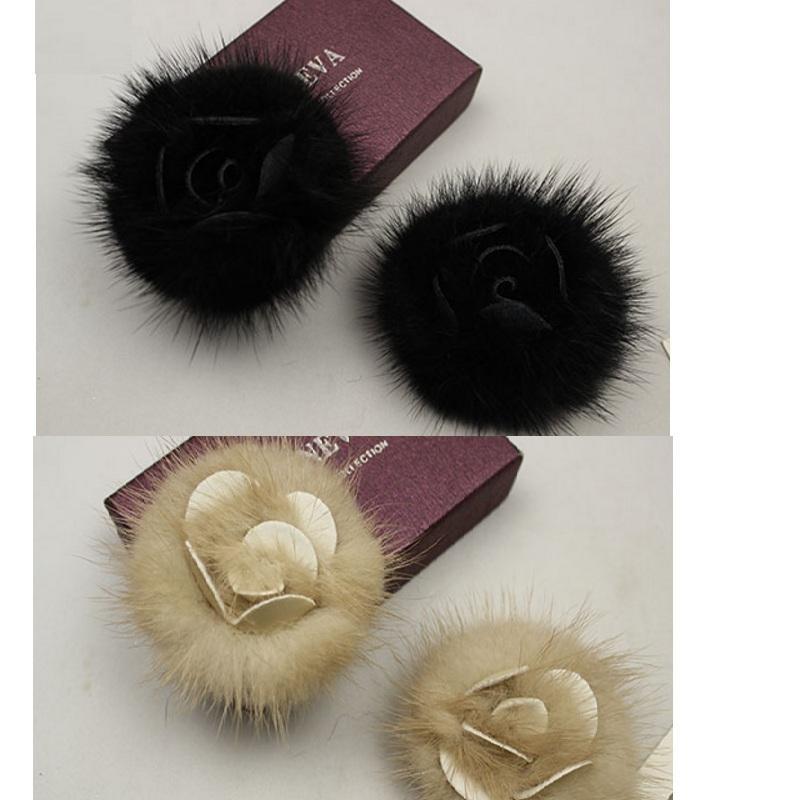 Women NEW Fur shoes clothing bag hat flower charms bridal high-heel pumps coat accessories flats boots Fashion decoration
