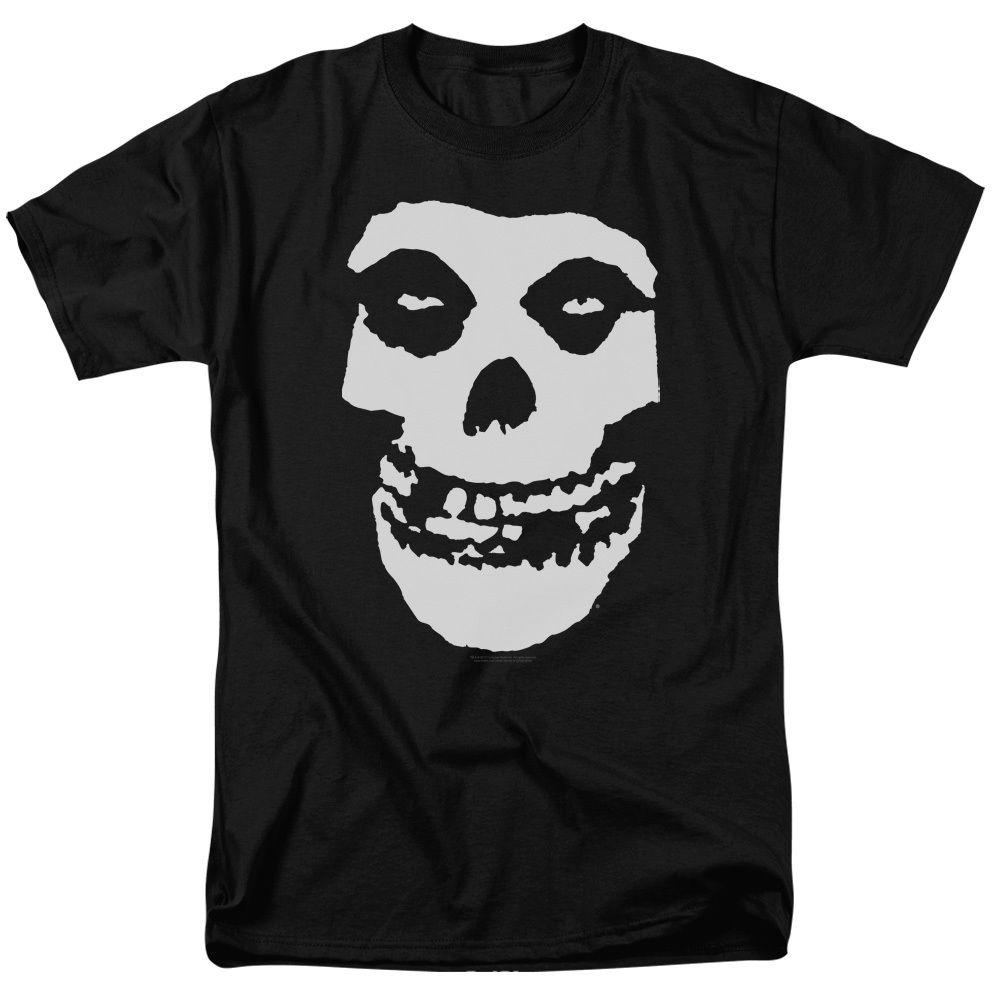 Misfits Band Classic FIEND SKULL Licensed T-Shirt All Sizes free shipping wholesale summer Hot Sale New Tee Print Men T-Shirt Top