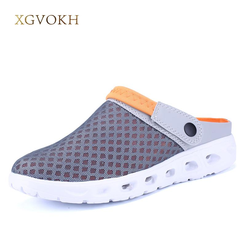 4a6d76ed45a8 Men Summer Sandals Breathable Mesh Beach Shoes Water Man Slippers Fashion  Slides Cheap Shoes Cheap Boots High Heel Shoes From Pvflymk0
