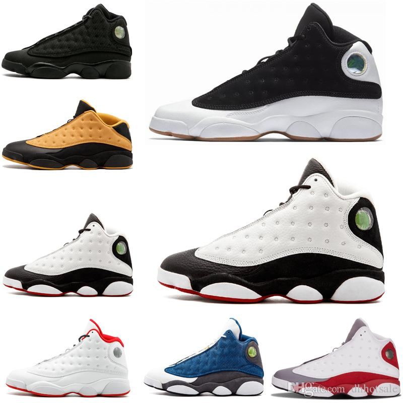 560fd46f47c with Box High Quality New Men 13 Black Cat Basketball Shoes 13s ...