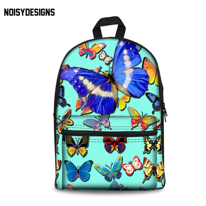 7340ed269808 NOISYDESIGNS Girls Backpack Kids School Bags Animal Butterfly Printed Bag  Teenage Backpack Student Schoolbag Children Book Bag Backpacks For Boys  Hype ...