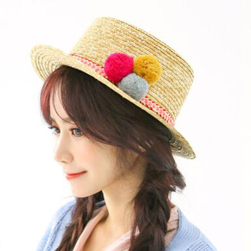 2016 Sell Like Hot Cakes Sun Hats For Women Three Color Ball Fashion Summer  Beach Beige Hat Boater Hat Fascinator Hats From Fashionable16 9e9b729700a