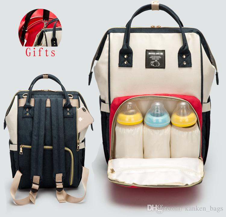Diaper Bag Mommy Maternity Nappy Bags Large Capacity Baby Travel Backpack  Desiger Nursing Bag Baby Care For Dad And Mom Updated Version Rucksack  Jansport ... 61718161fc83f
