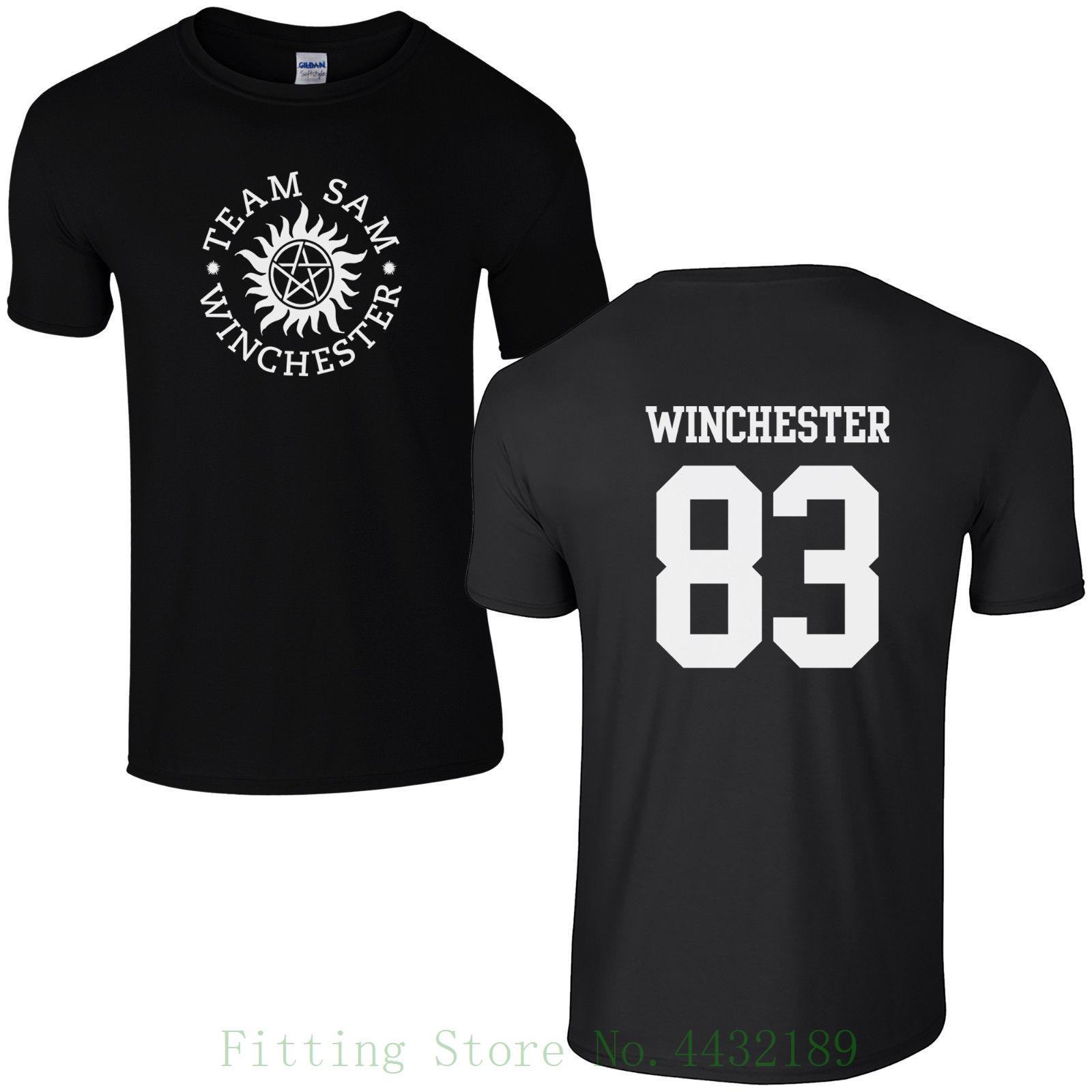bc668716c Team Sam Winchester 83 T Shirt Supernatural Saving People Hunter Things Top  Pop Cotton Man Tee Best T Shirts Design All T Shirt From Aaa888tshirts, ...