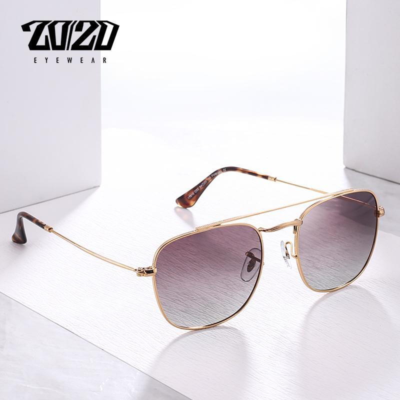 b5e6911101 Compre 20/20 Hombres Nuevos Gafas De Sol Polarizadas Mujeres Unisex  Cuadrado Marco De Metal Gafas De Conducción Gafas De Sol Retro Gafas 17010  A $29.54 Del ...