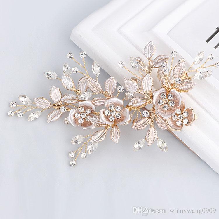 Schmuck & Zubehör Barock Gold Farbe Metall Blätter Haarband Kopfschmuck Hochzeit Braut Haarschmuck Haarband Accessoire Cheveux Mariage Schmucksets & Mehr