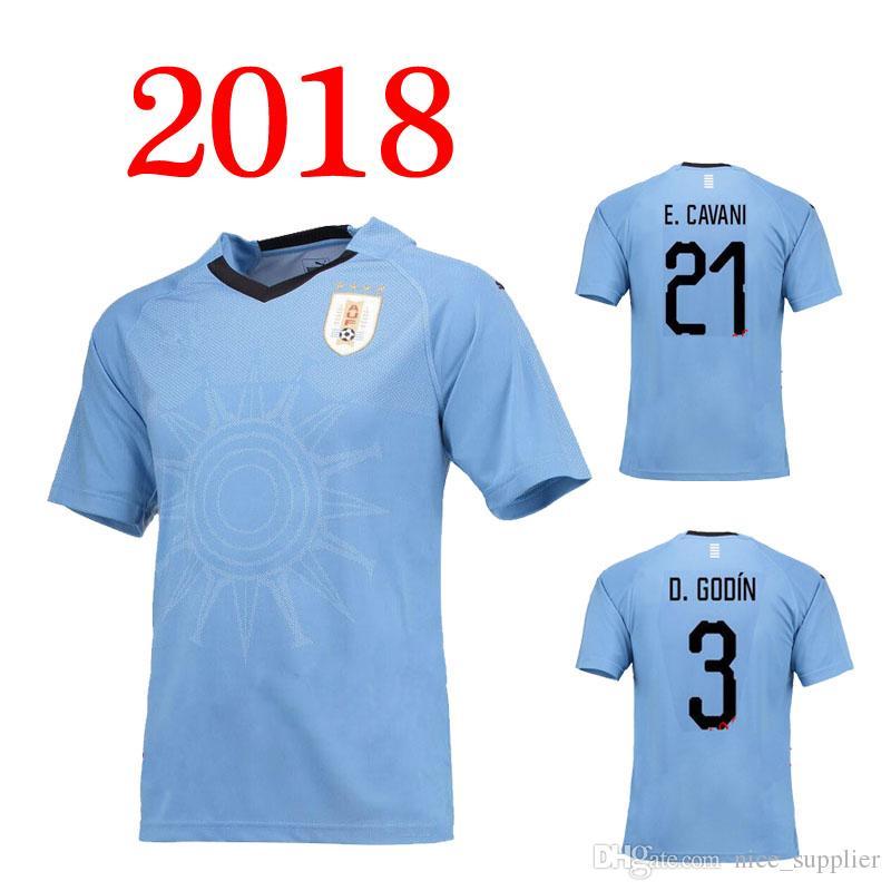 Rugby +++ 2018 Uruguay Jerseys 9 Suarez 3 Diego Godin 10 Forlan 6 ... 01b98f8db