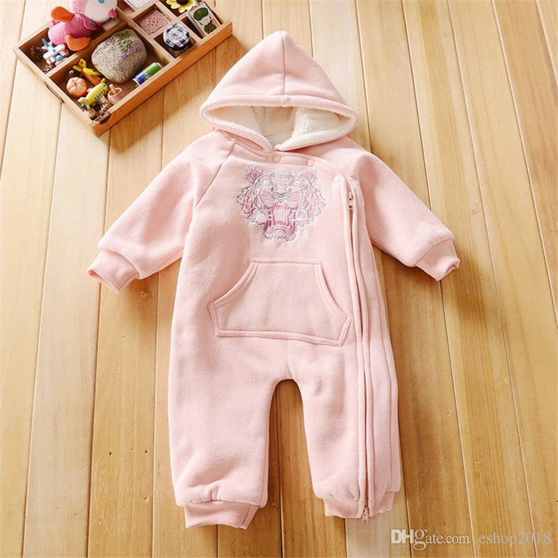 9344ef2fdc14 Hot Sale 3M-24M Baby Rompers Winter Warm Fleece Clothing Set for ...