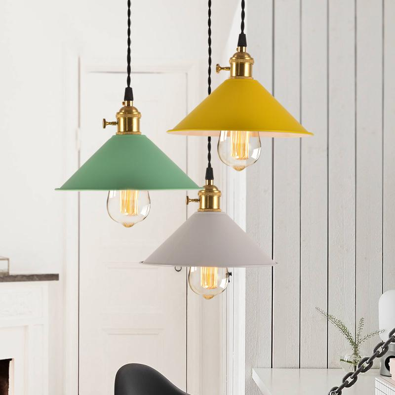 New classical LED pendant lights colorful macaron droplight pink blue yellow green white lovey color for kids room bedroom restaurant light