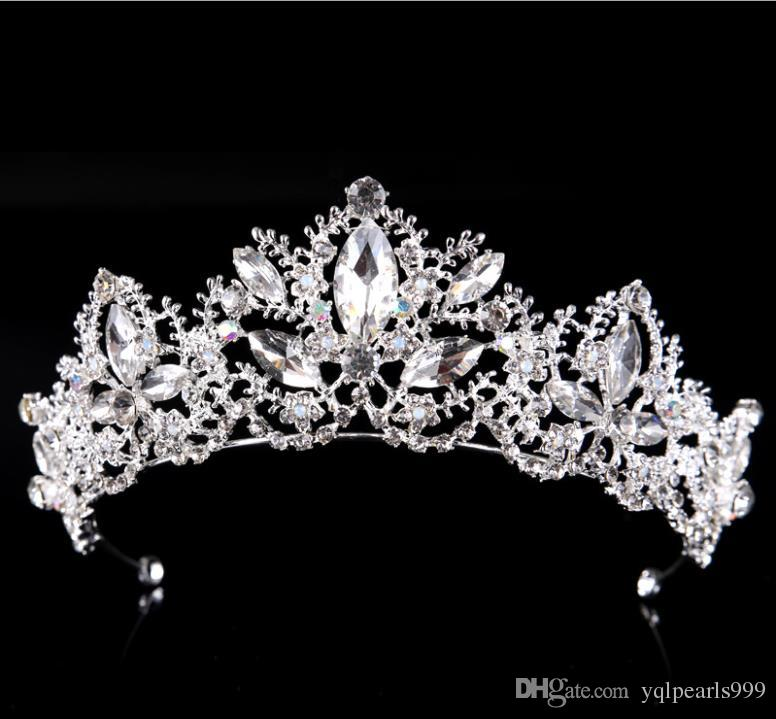 2018 new crystal bridal bridal ornaments crown wedding dress accessories