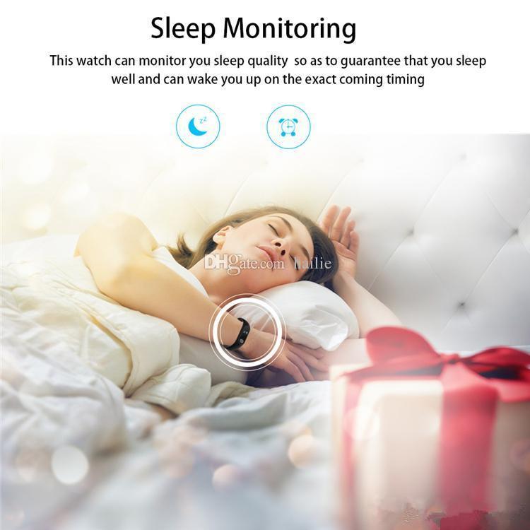 Смарт-браслет M2 умные часы Монитор сердечного ритма Bluetooth Smartband Здоровье Фитнес Смарт-бэнд для Android iOS трекер активности DHL