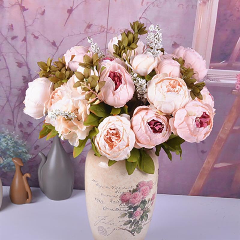 Grosshandel Kunstliche Blumen Europaischen Herbst Vivid Pfingstrose