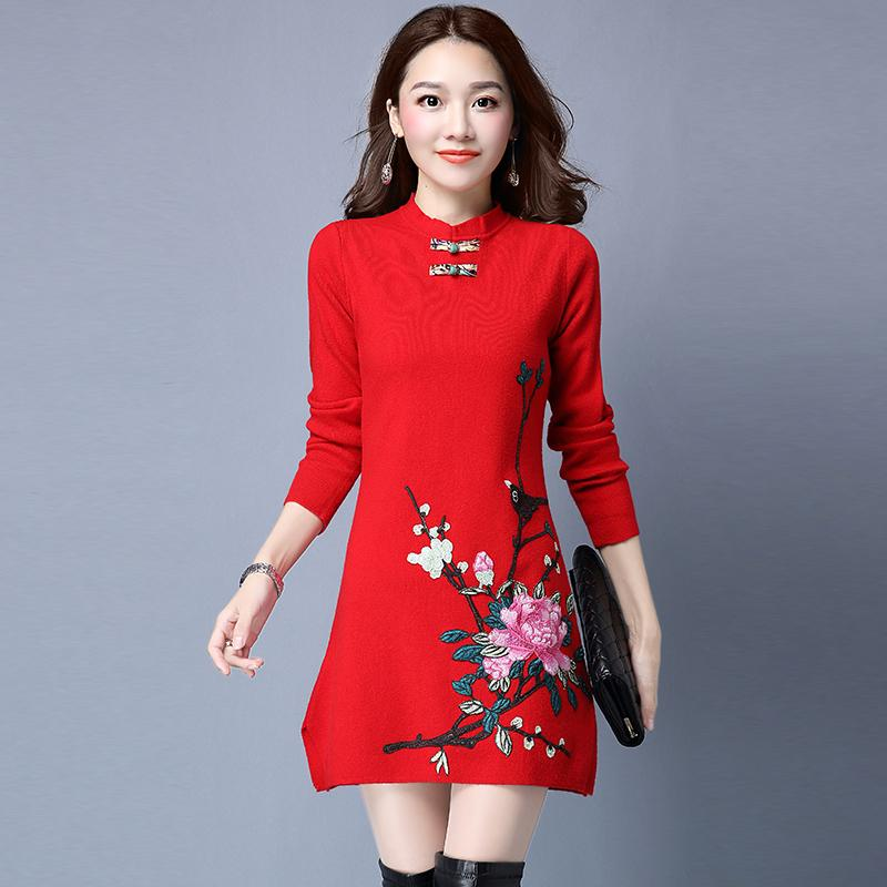 61b5dc44b35 2019 2018 Summer Chinese Traditional Women Cheongsam Female Cotton Chinese  Dress Wedding Qipao Oriental Dresses Modern Girl Dress From Hongyeli