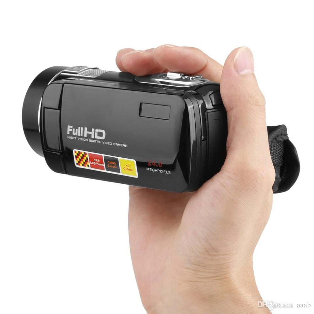 Infrarot-Nachtsicht-Fernbedienung Handliche Camcorder HD 1080P 24MP 18x Digital Zoom Video DVWith 3.0