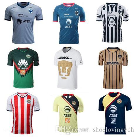 7cf11aa31 MEXICO Club LIGA MX FC Soccer Jerseys America Chivas Guadalajara UNAM  Rayados Monterrey Tigres UANL Football Shirt Kits Team Uniform Men Canada  2019 From ...