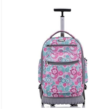 743b853f72 School Rolling Backpack 18 Inch Wheeled Backpack For Girls Kids School Bag  On Wheels Children Trolley Backpack Bag For Teenagers Book Backpacks Child  ...