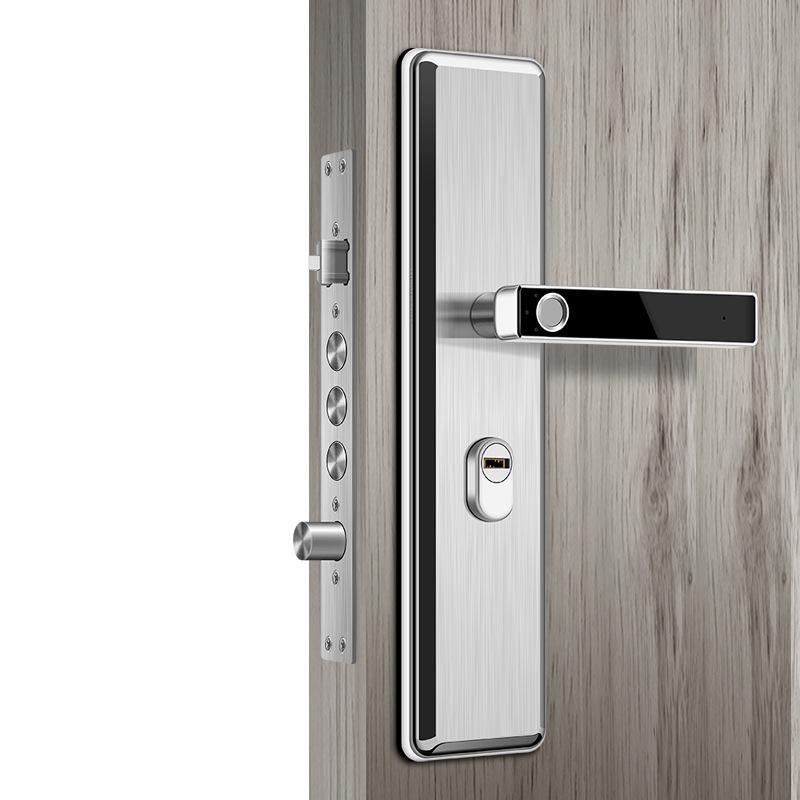 Wholesales Price Stainless Steel Fingerprint Head Semiconductor Fingerprint  Lock Smart Door Lock Automatic Security Door Electronic Lock