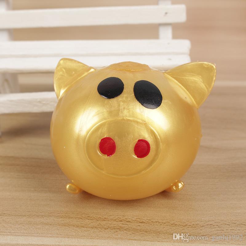 Juguetes de originalidad Venting Jelly Pigs Color Hand Pinched Water Egg Pig Niños adultos Fidget Divertidos juguetes de descompresión Novedad Squeeze 1 2bq W