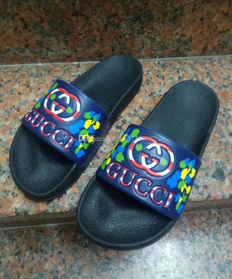 c5c8b0fbb New High Quality Luxury Brand Designer Men Summer Rubber Sandals ...