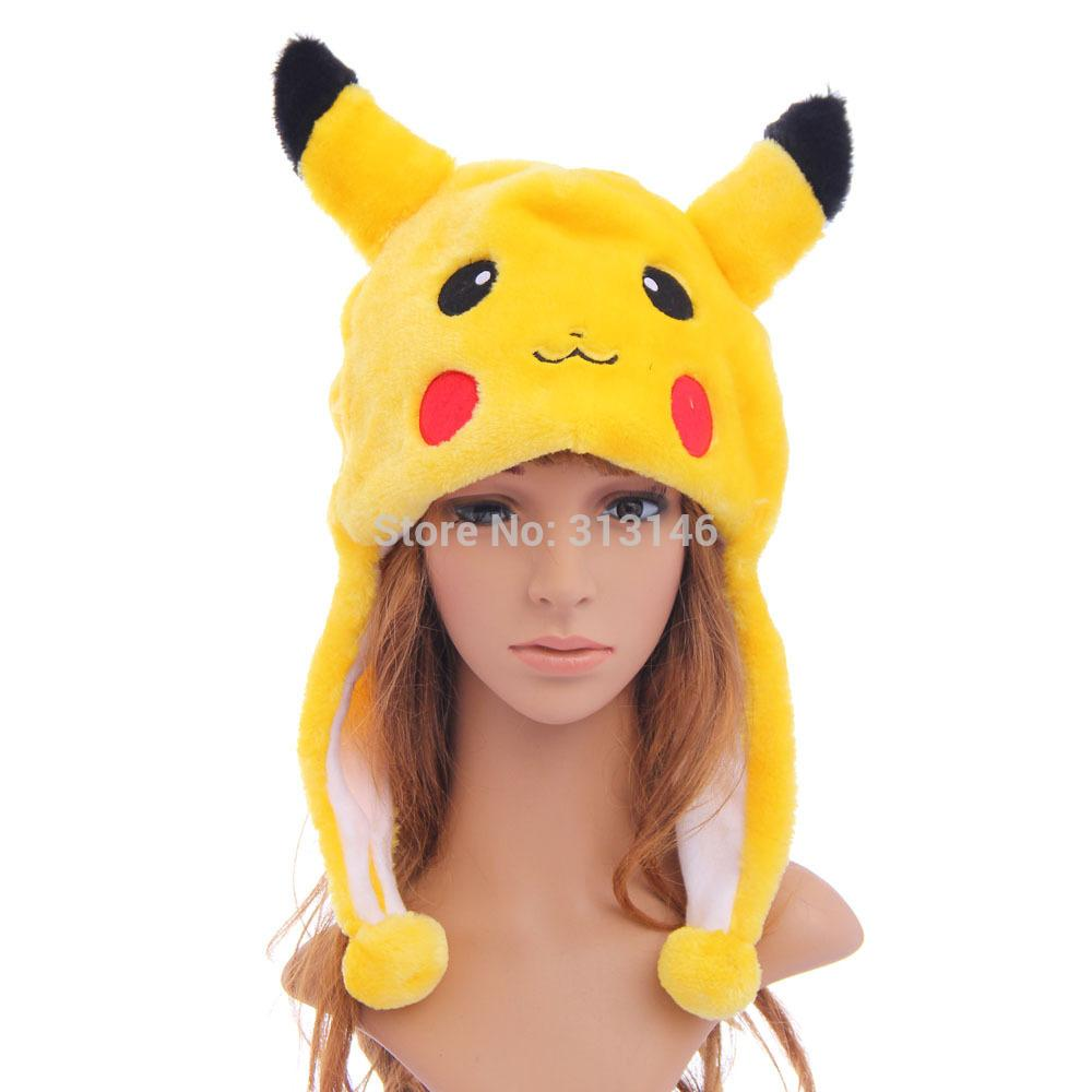 Cute Cartoon Plush Animal Pikachu Fuzzy Beanie Hat Winter Adult Women Men S  Children Kids Boys Girls Costume Warm Fluffy Cosplay UK 2019 From  Yiquanwater e0264db42ccf