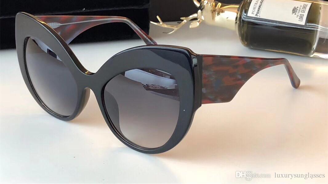 Lüks Kadınlar Için 80123 Güneş Gözlüğü Barok Tarzı Kedi Göz Çerçeve Tasarımcı Güneş Gözlüğü İtalyan Tasarımcı Altın Kaplama Kelebek Çerçeve Ile kılıf